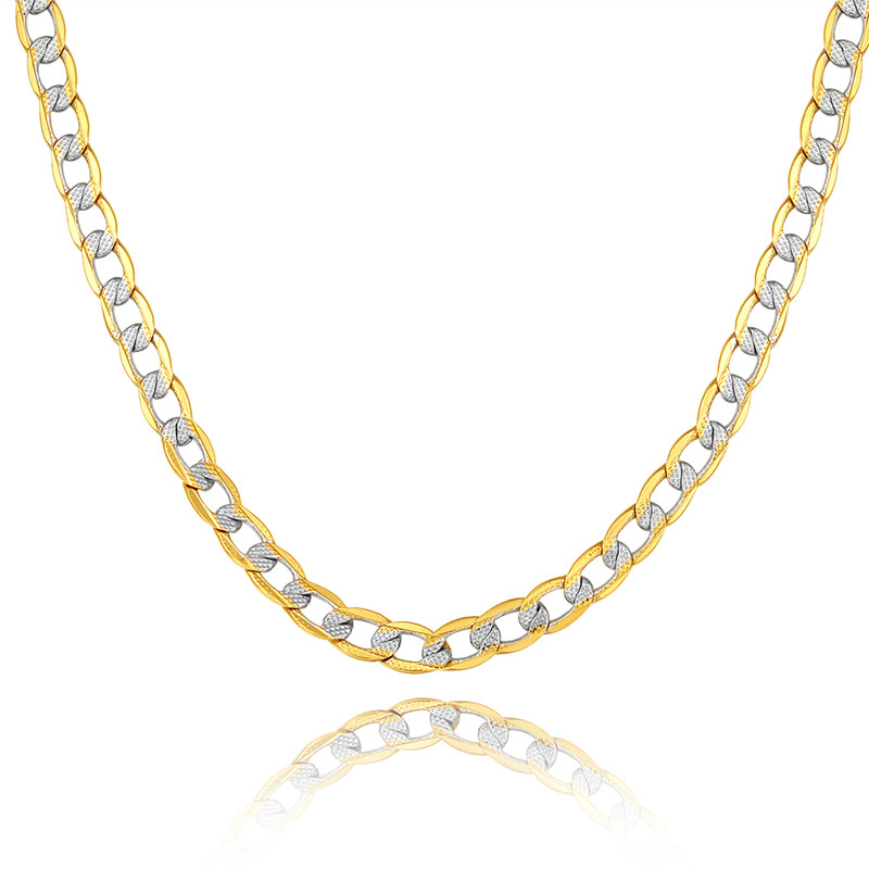 tone chimento raton reversible product necklace chain two boca gold