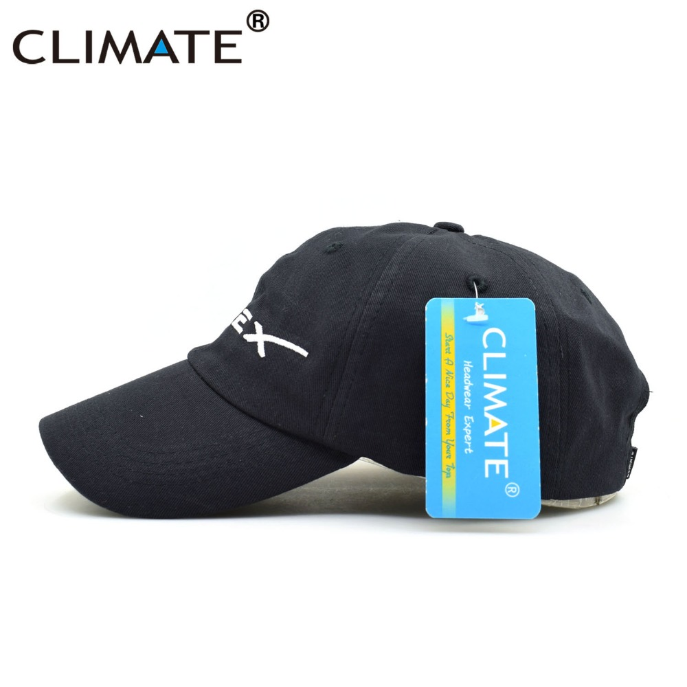 CLIMATE Men Women Cool Black Spacex UFO Baseball Hat Caps Cotton Adult  Outer Space Rocket Musk ... 4f69720d74d