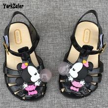 Filles de mode sandales d'été mickey pas cher enfants shoes enfants filles minnie souris sandales shoes mignon enfants mini melissa sandales