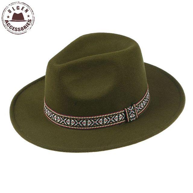 ef75e302481a4 Bohemia Vintage fedoras unisex wool felt Jazz hats for men women cowboy  panama fedora hats