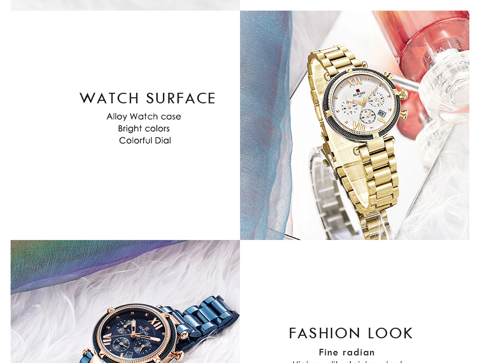 REWARD 63084 Ladies Steel Belt Waterproof Watch 8