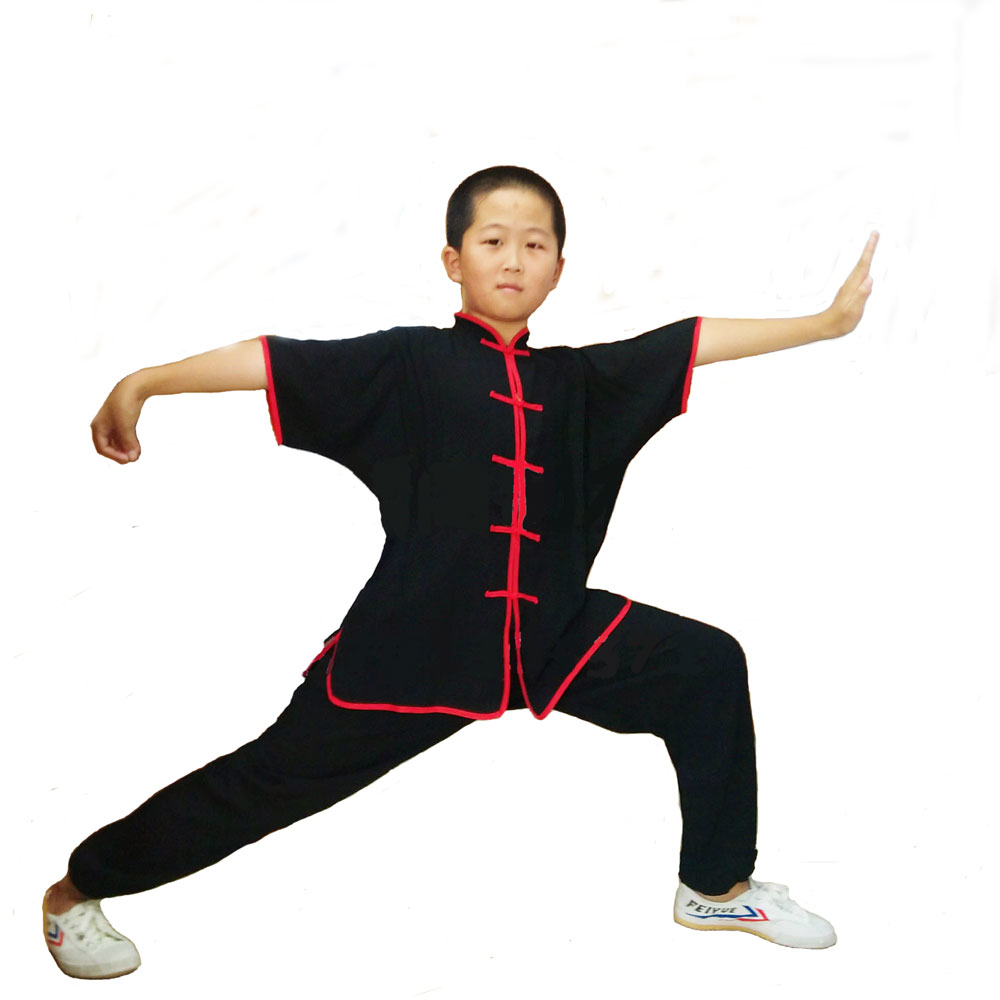 Chinese Traditional Clothing Breathable Wushu Martial Arts Uniforms 100% Cotton Kung Fu Suit Kids And Adults Suit