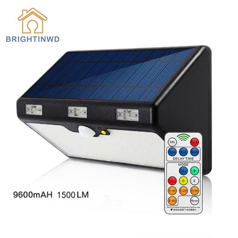 LED Solar Light Outdoor 66LED 9600mAH 1350LM High Brightness  Emergency Lighting Garden Street Ip65 Lamp Luminaria Lights