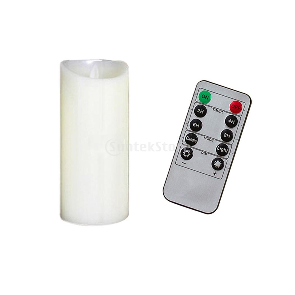 7.5x17.5cm LED Flameless Swing Flickering Candle Light With Remote Control