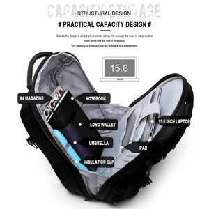 Image 5 - 2020 OZUKO Fashion Business Laptop Backpack Mens Multifunction Waterproof Oxford Travel Backpack Casual School Bag For Teenager