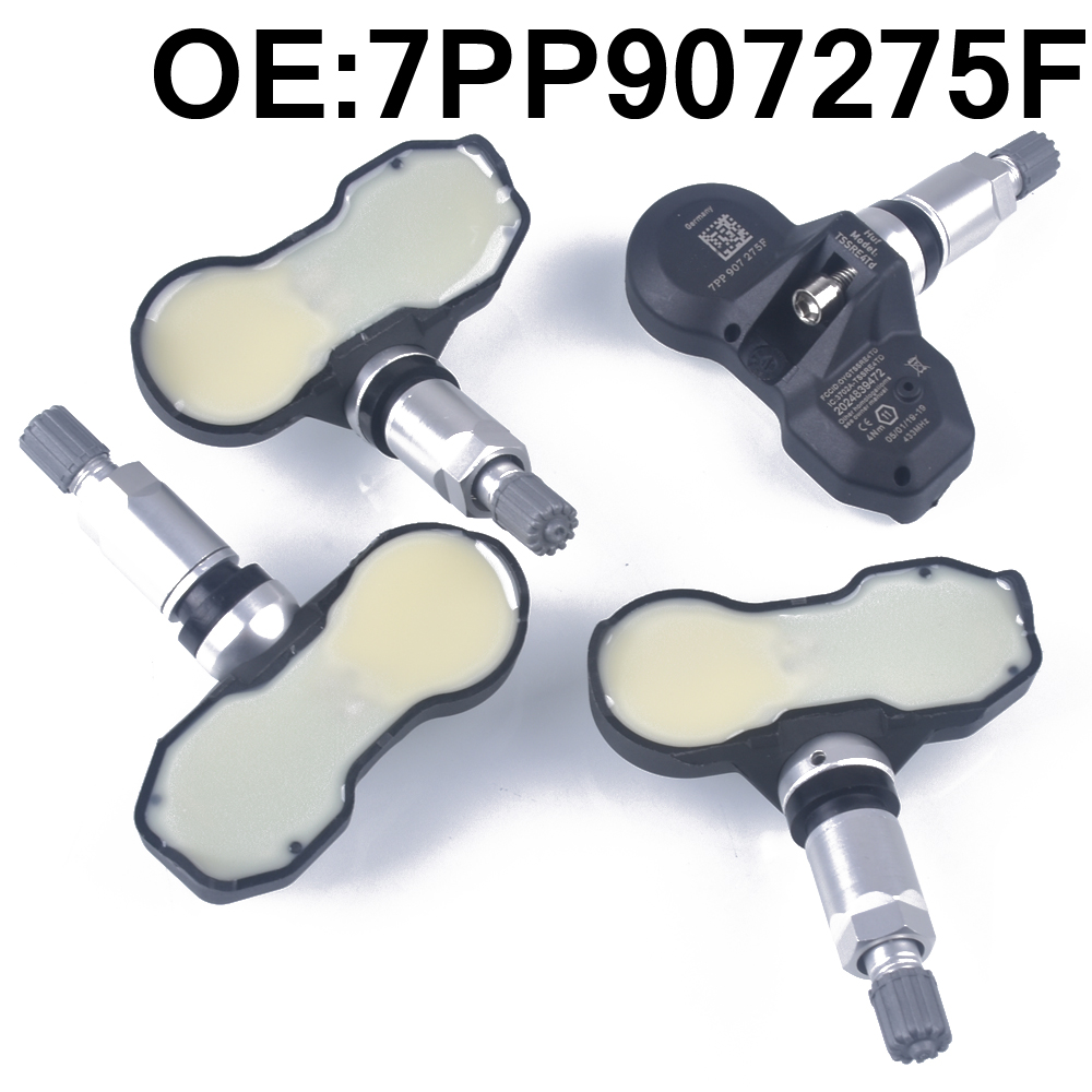 4 PCS Car Tire Pressure Monitor Sensor TPMS 7PP907275F for Audi A4 A6 A8 Q7 R8