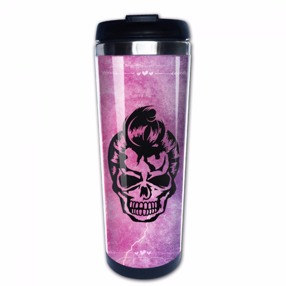 Zombies Make Your Own Photo Travel Mug - Insert your own photos, Company LOGO design Skull