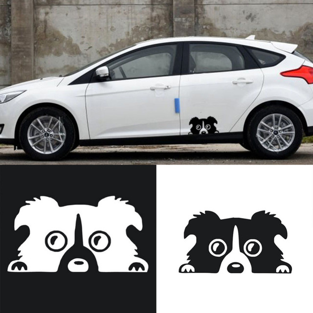 New auto high quality style cartoon dog pattern sticker reflective personality car body stickers vinyl car