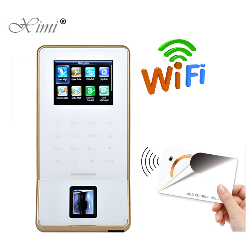 Fingerprint Recognition Door Lock Controller With RFID Card Reader ZK F22 WIFI Door Access Control System And Time Attendance
