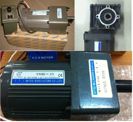 Electric Induction Reversible Motor Speed Reducer 25W 220V AC VTV Gear box motor reduction YN80-25