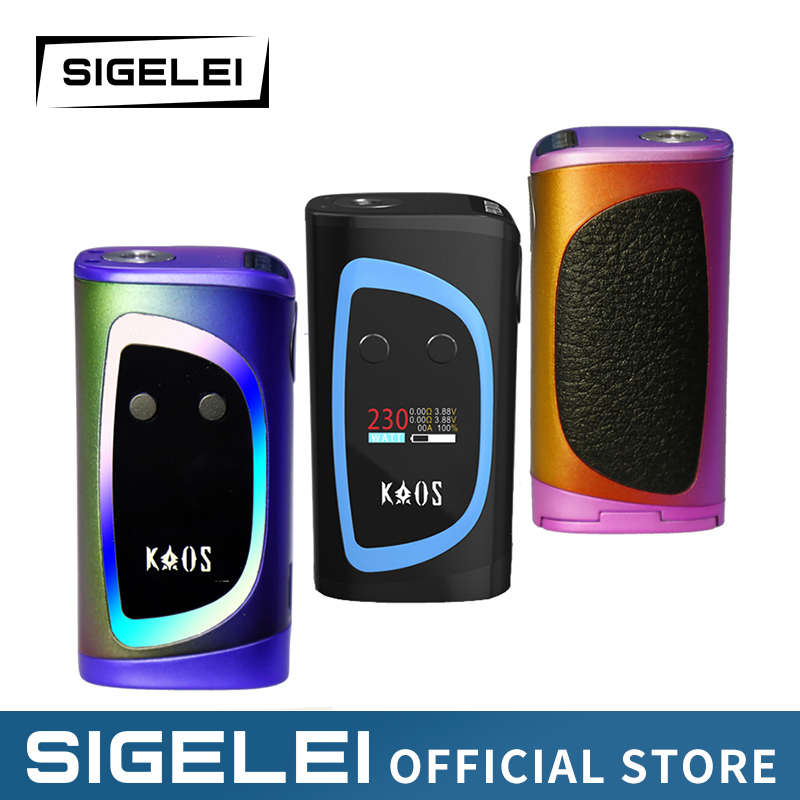 Newest Design high power vape 10W 230W e Electronic Cigarette Sigelei Kaos Spectrum with colorful LED