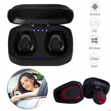JQAIQ TWS Mini Wireless Bluetooth Earphone With Charging Box Stereo Handsfree Earbuds Sport For Iphone Android