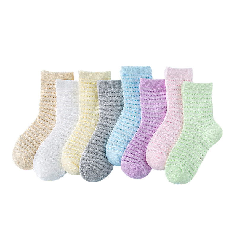 Childrens Socks Spring Summer New Boys Girls Cotton Baby Socks 8 Colors Mesh Soft Newborn Toddlers Infant Socks