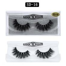 Thick mink eyelashes natural long handmade reusbale fake lashes strip black cotton stalk extensions 120sets/lot