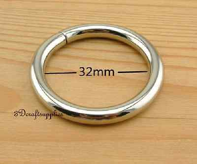 metal O rings O ring purse ring connector nickel 32 mm 1 1 ...