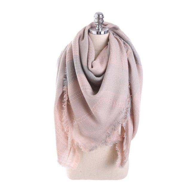 OUTAD Winter Luxury Plaid Cashmere Scarves Women Wrap Shawl Pashmina Bandage Bufanda