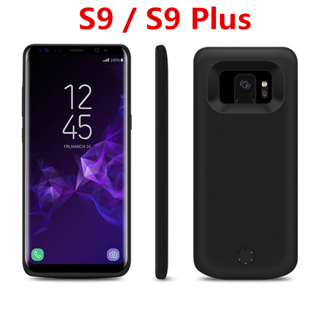 low priced 79416 5c9f8 US $17.9 30% OFF|2018 For Samsung S9 / S9 Plus Battery Case Fashion Charger  Case For Samsung Galaxy s9 / s9 Plus Battery Case Power Bank-in Battery ...