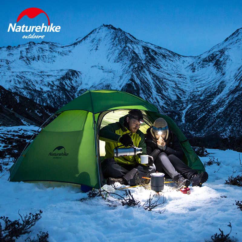 Naturehike โรงงาน Cloud Peak 2 หกเหลี่ยม Ultralight เต็นท์ 2 คน outdoor camping เดินป่า 4 Season Double Layer Windproof เต็นท์