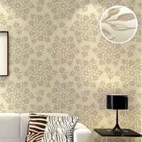 Feature Modern Snowflake Design Geometric Floral Damask 3D Embossed Texture Wallpaper Beige Purple Blue Grey Wall