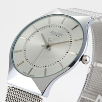 Top Brand Julius Women Watches Ultra Thin Stainless Steel Net Belt Couples Quartz Watch Wristwatch Luxury