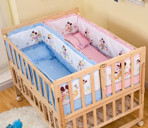 twin baby cot promotion shop for promotional twin baby cot on. Black Bedroom Furniture Sets. Home Design Ideas