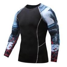 Compression Shirt rashguard Fitness Long Sleeves T Shirt Cadiz Top Clothing blusa slim fit Men Sportswear Brand ahegao t-shirt