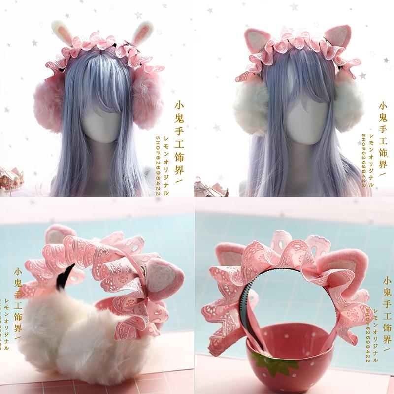 A Warm Hand Cover Plush Ear Ear Package Ears Warm Winter Soft Sister Han Edition Express The Cat Ears Set Of Earmuffs