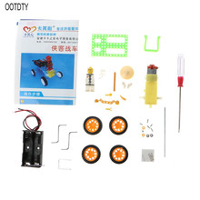 Electric Robot DIY Assemble Puzzle Toy Doll Model Car Student Children Kids Gift