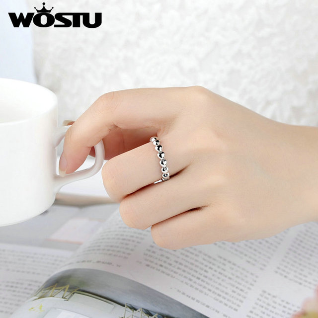 Aliexpress Wholesale  Silver Full Of Love Heart Rings Compatible With Original WST Ring Fashion Jewelry Gift