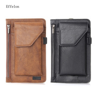 NEW Multi Function Double Pouch Wallet For Iphone 6 7 Plus Belt Pouch Holster For 5