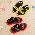 Модные летние новые сандалии для мальчиков и девочек; цветная детская обувь с рисунком маленькой желтой утки; Повседневная пляжная обувь с ...
