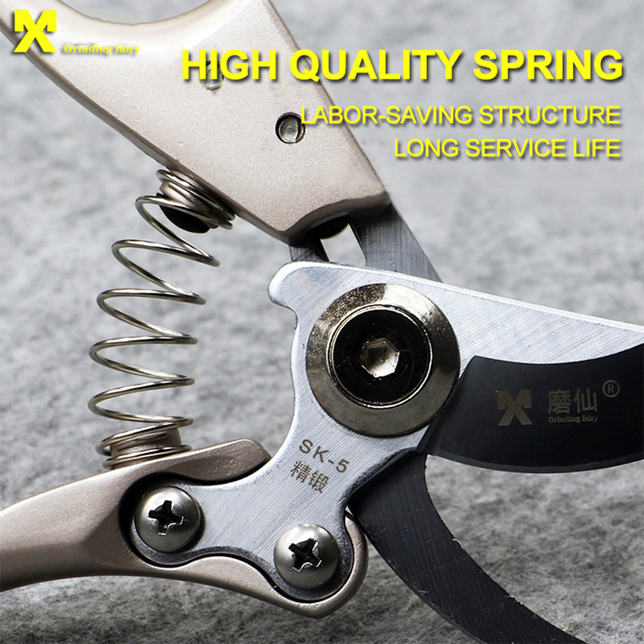 Image 3 - Pruning tools SK5 High Carbon Steel Fruit Tree Pruning Scissors Garden Pruning Sharp And Use Durable Knife Secateurs Scissors-in Pruning Tools from Tools