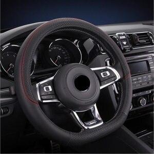 D Shape PU Leather Car Steerin