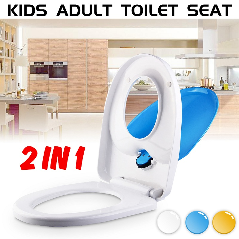 Double Use Family Toilet Seat 2 in 1 Kids Toddler Adult Potty Chair Cover Set For Children Care Potty Training Seat Hot Selling