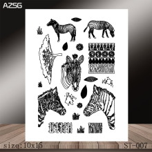 AZSG zebra Clear Stamps/Stamp/For Scrapooking/Card Making/Silicone Stamps/Decoration  Crafts