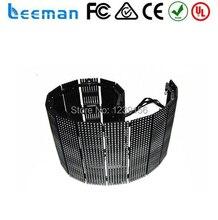 Leeman полноцветный 3D светодиодный дисплей мягкий гибкий из светодиодов монитор занавески из светодиодов мягкий flexibl HD трафик светодиодный дисплей