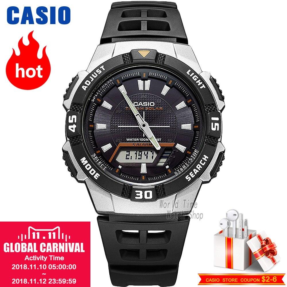 Casio watch Analogue Men's quartz sports watch comfortable and convenient waterproof student watch AQ-S800W casio aq s800w 1b2 casio