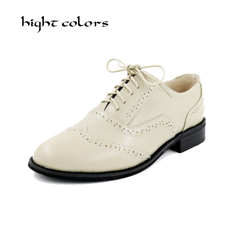 Genuine leather big woman US size 10 designer vintage flat shoes round toe handmade red silver gold oxford shoes for women fur genuine leather woman size 9 designer yinzo vintage flat shoes round toe handmade black grey oxford shoes for women 2017
