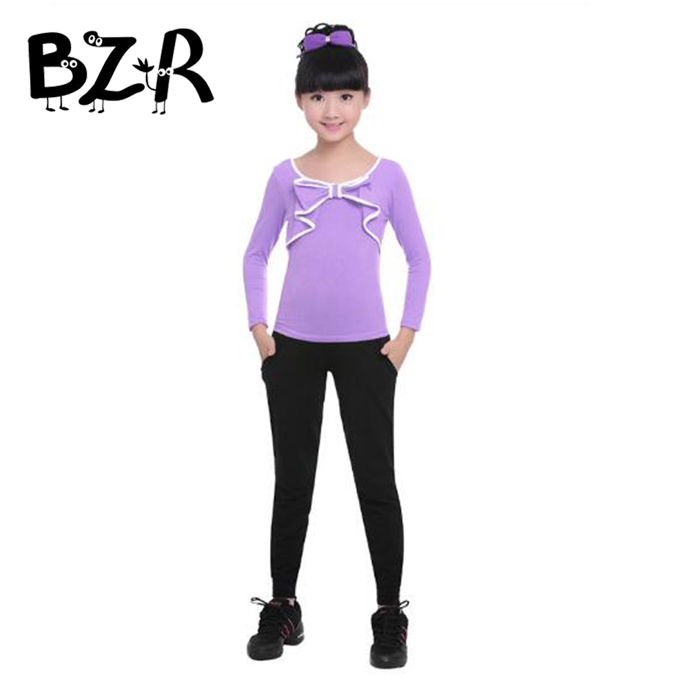 Bazzery Modern Dance Suit for Girl Gymnastics Costume Daily Girls Sportswear Children Kids Tops & Trousers 100-165cm