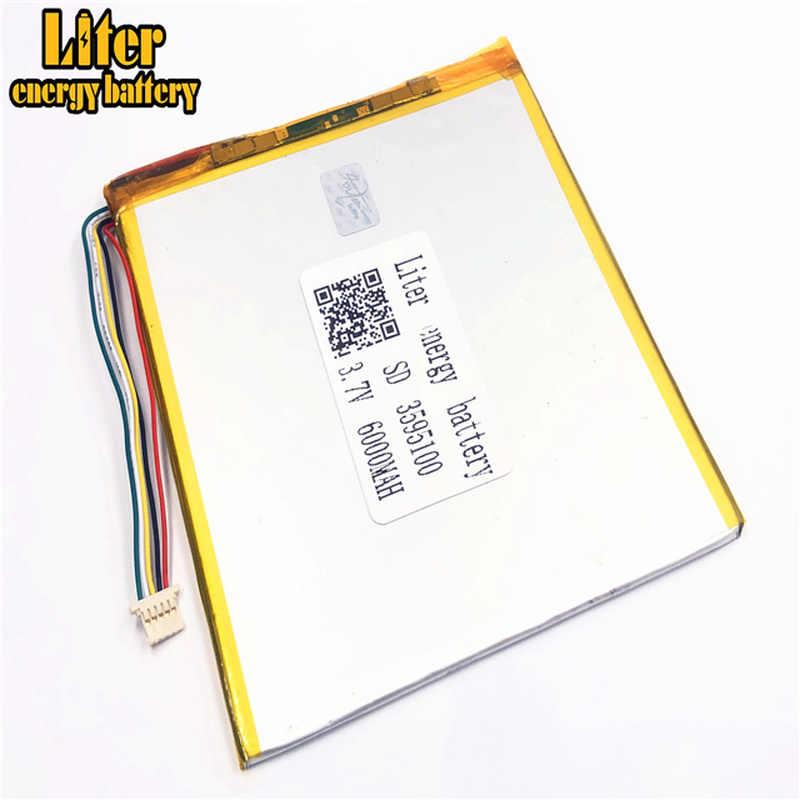 1.0 مللي متر 5pin موصل PC 3.7 V 3595100 6000mah بطارية ليثيوم بوليمر قابلة للشحن الشمسية ليثيوم أيون بطارية ليثيوم بوليمر اللوحي