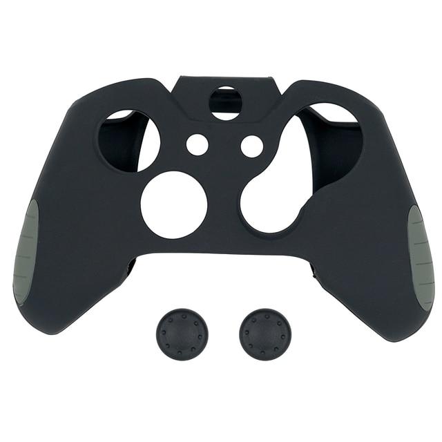 Anti-Slip funda protectora de silicona cubierta con el pulgar tapas para Xbox un controlador Rojo Negro