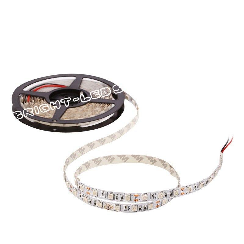 LED Strip SMD 5050 DC12V LED strip flexible light IP65 non-waterproof or waterproof  60 led/m 5m RGB LED strips 5050