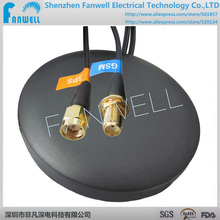 FW-010-SMA-3M 120 unids * satélite impermeable coche de doble banda de 3 M 2-en-1 China magnética SMA combinan antena GPS externa activa GSM