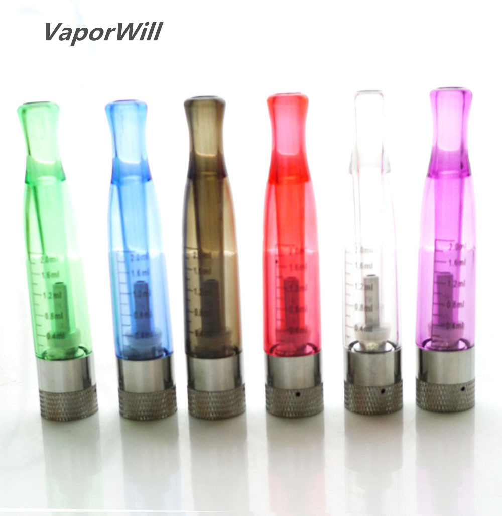 GS H2 Vapor Clearomizer Atomizer 2.0 Ml Bottom Coil BCC Tanks Fit EGO EVOD E Cig CE4 Compatible With All Ego T 510 Battery