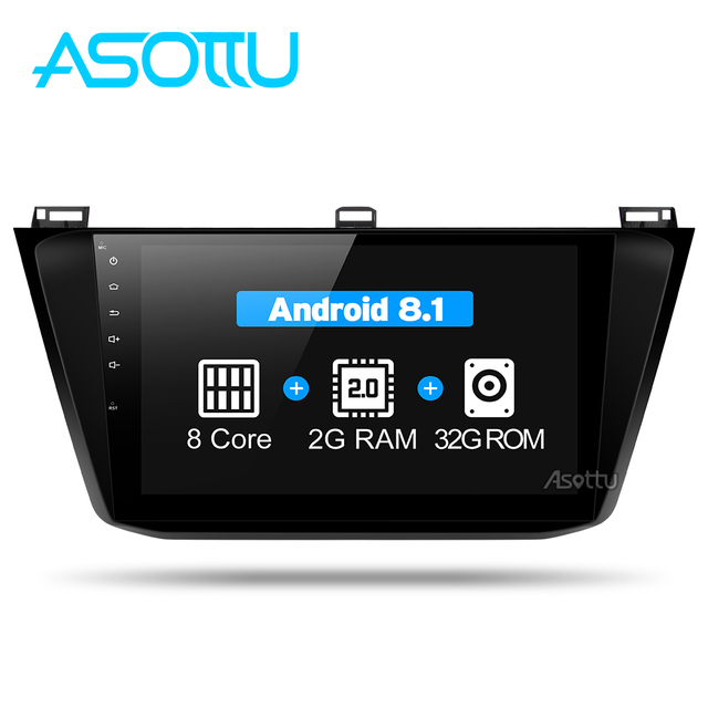 Asottu C17TG1060 2G + 32G android coche gps player para VW tiguan 2017 coche radio video reproductor de audio reproductor estéreo de navegación gps para coche