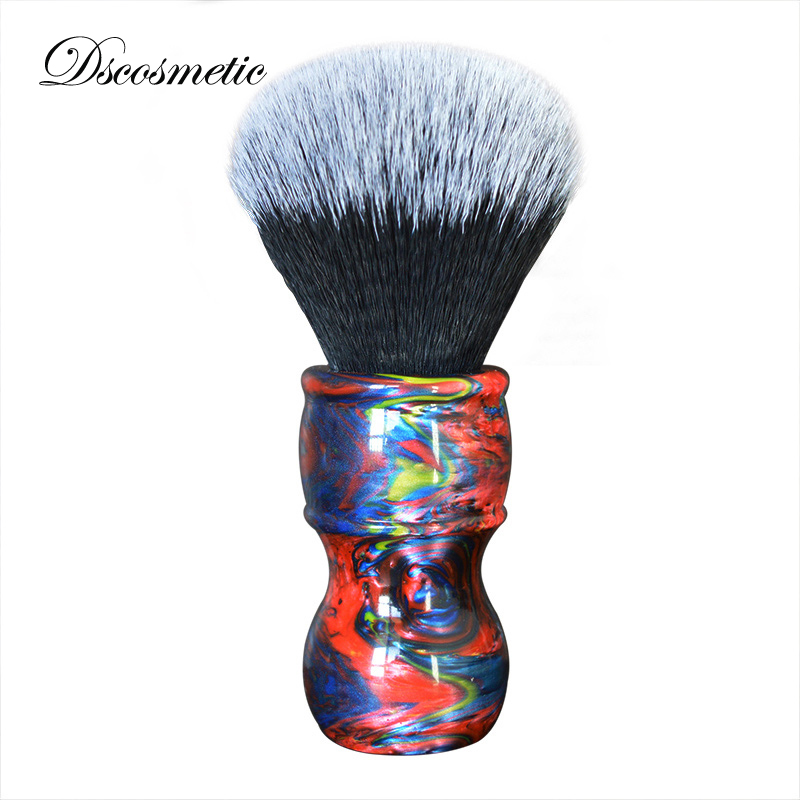 Dscosmetic New 26mm Big Shaving Brush Knots Colorful Resin Handle Synthetic Hair Mens  Shaving Brush Barber Brush
