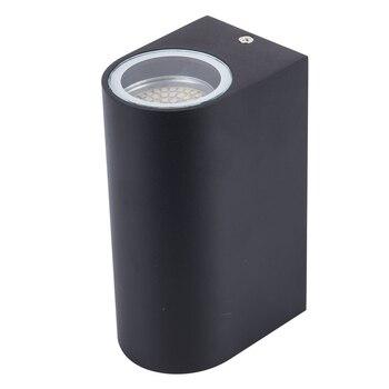 أحدث تصميم GU10 وحدة إضاءة LED جداريّة مصباح صعودا وهبوطا الشمعدان جدار أضواء AC85-265V 10 W قوس مصباح (اثنين الجانب 5 w)