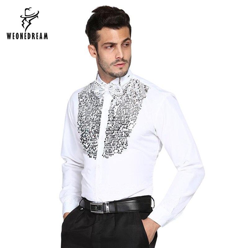 Online Get Cheap Lentejuelas Camisas Para Los Hombres