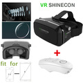 2016 VR SHINECON Head set Plastic Version Virtual Reality 3D Glasses google cardboard HD VR Glasses with Bluetooth controller