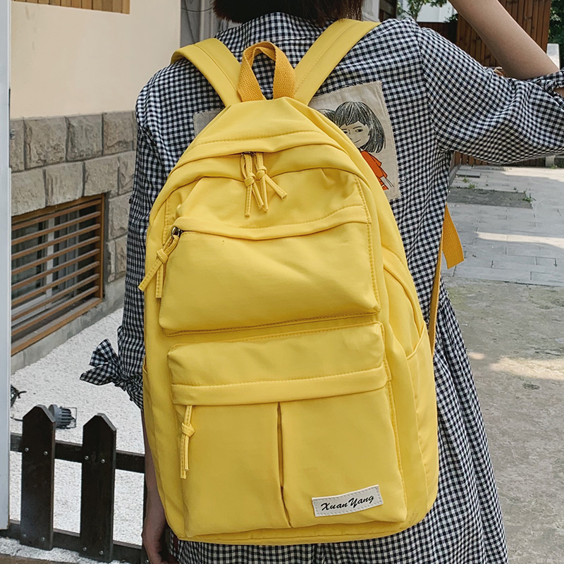 Multifunction Fashion Women Backpack Teenage Girl School Bag Applique Waterproof Backpacks Female Nylon Student Book Casual Lady